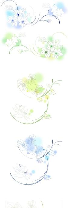 圆形花边创意矢量素材