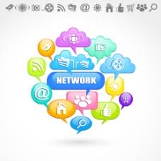 互联网络应用图标标识设计矢量素材2