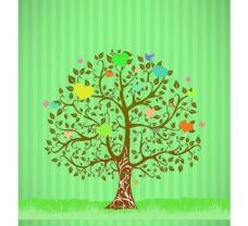 爱心树 背景墙