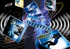 摄影工作数码游戏背景设计psd分层素材