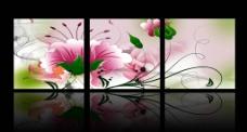 清新花朵三联图图片