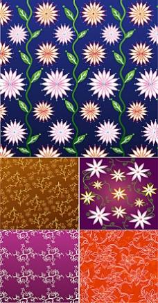 5款漂亮古典花纹装饰背景素材