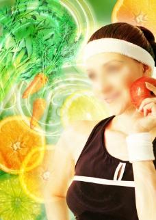美容生活图片源文件PSD美容与水果