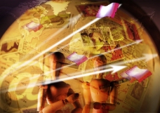 互联网战争数码游戏背景设计psd分层素材