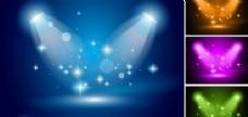 蓝色聚光灯矢量矢量素材三