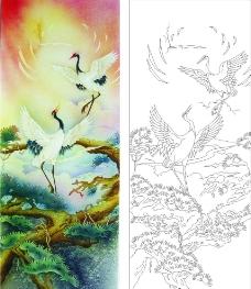 鹤舞松风图片