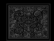 CAD 欧式花纹雕塑图片