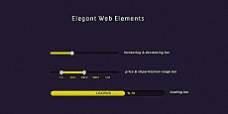 精美网页设计元素psd素材-elegant web elements
