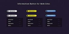 精美网页设计元素psd素材-information button for websites