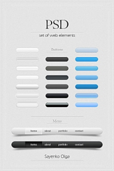 精美网页设计元素psd素材-free_web_elements
