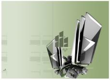科技雕塑游戏背景设计psd