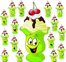 卡通食品表情图片
