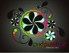 spring mixcolor 花
