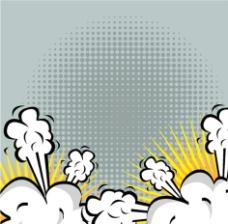 卡通爆炸图案 爆炸图图片
