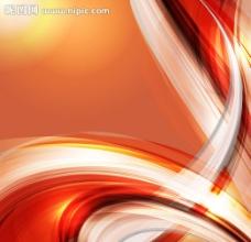 炫彩流线装饰背景矢量图片