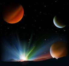 梦幻太空地球图片