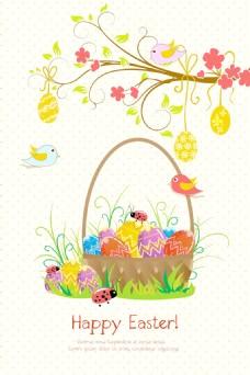 复活节的背景矢量插画