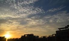 落日时候的云彩图片