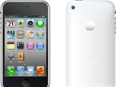 苹果手机白色正反面图片