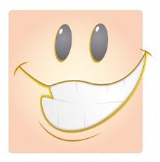 快乐的脸盒的笑脸