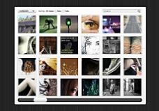 图库网站界面设计模板psd分层素材
