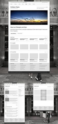 图片浏览网站界面设计模板psd分层素材