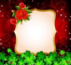 玫瑰花 卡片图片
