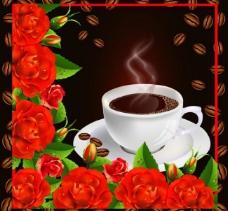 玫瑰花 咖啡图片