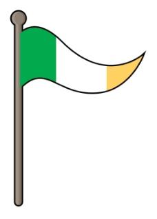 爱尔兰国旗矢量设计