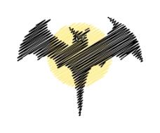 万圣节蝙蝠形状的涂鸦