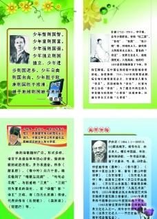 學校名人展板圖片
