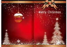 圣诞贺卡 冬天 卡通图片
