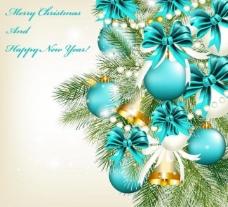 圣诞球金色铃铛矢量图图片