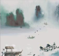 水墨画 山水画图片