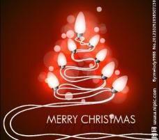 创意灯泡圣诞树图片