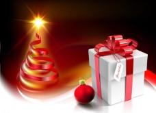 丝带圣诞树图片