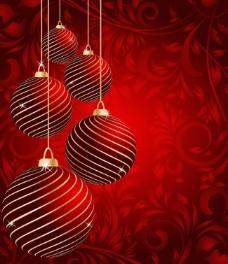 圣诞球 圣诞背景图片