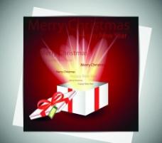 打开的礼品盒光线四射图片