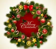 松枝圣诞花环背景图片