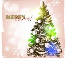 手绘圣诞背景图片