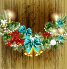 木纹圣诞背景图片
