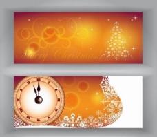 时钟圣诞背景图片