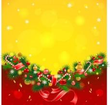 松枝圣诞背景贺卡图片