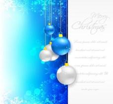蓝色雪花圣诞背景图片