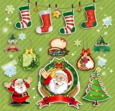 圣诞标签贴纸图片