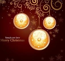 圣诞花纹背景图片