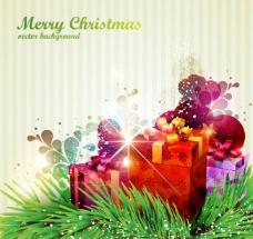 圣诞节炫彩背景图片
