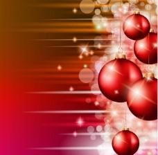 梦幻光斑圣诞球背景图片