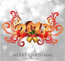 2013欧式花边圣诞新年背景图片