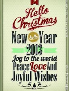 复古老式的圣诞新年文字字体排版图片